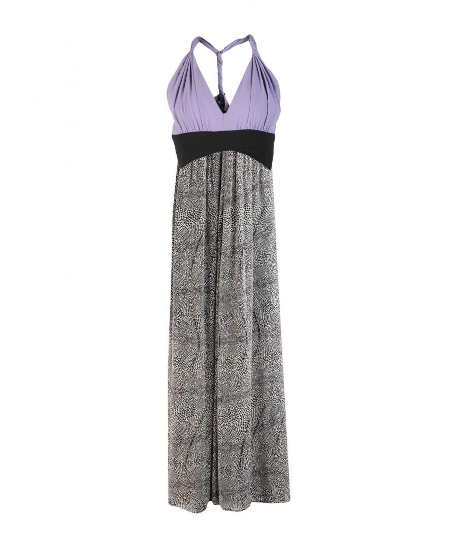 Image for Annarita N Lilac Crepe Print Full Length Dress