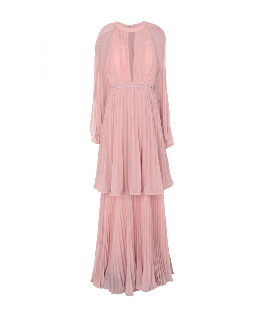 Image for True Decadence Pink Chiffon Pleated Dress
