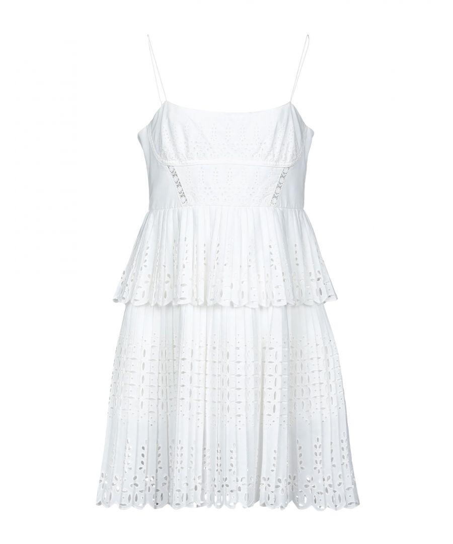 Image for Self-Portrait White Cotton Lace Dress