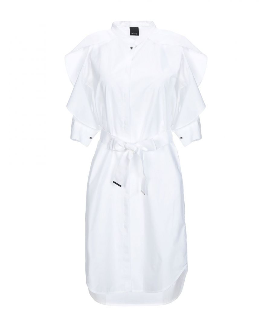 Image for Pinko White Cotton Short Dress