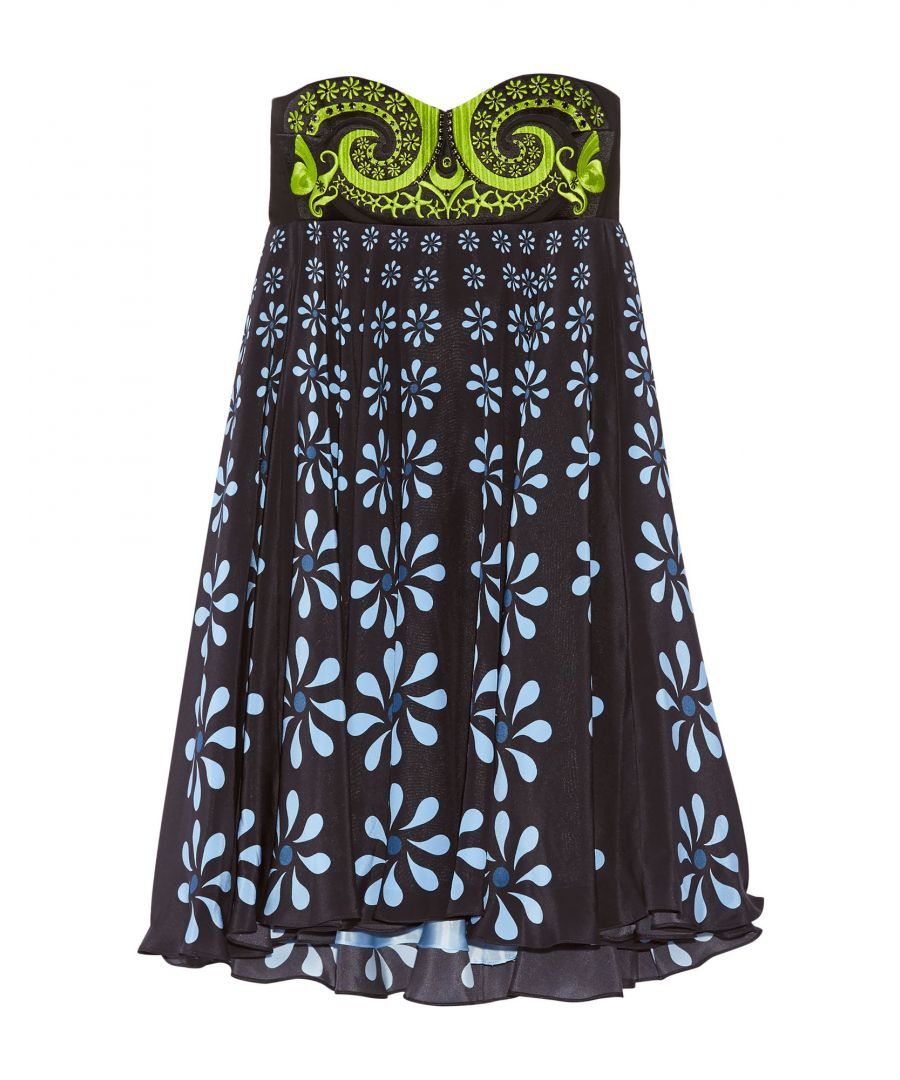 Image for Holly Fulton Dark Blue Silk Mini Dress