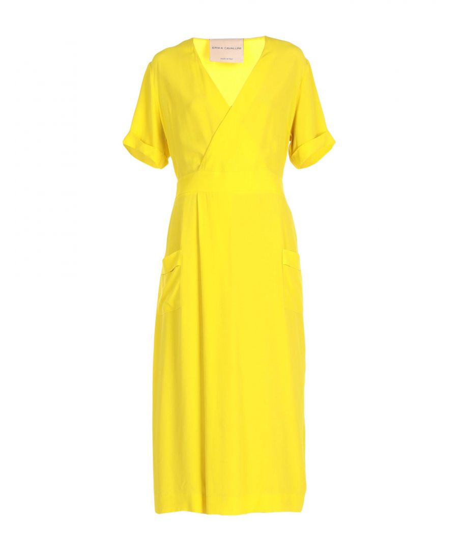 Image for DRESSES Erika Cavallini Yellow Woman Acetate