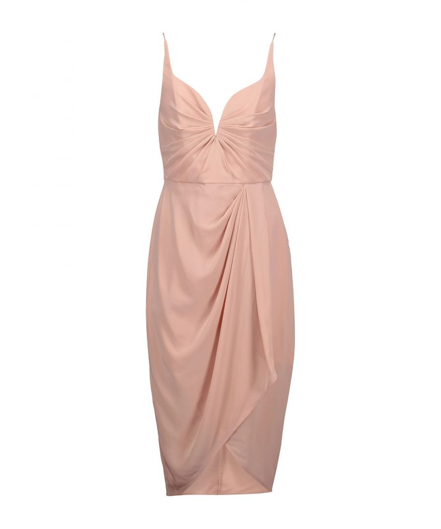 Image for Zimmermann Pink Silk Midi Dress