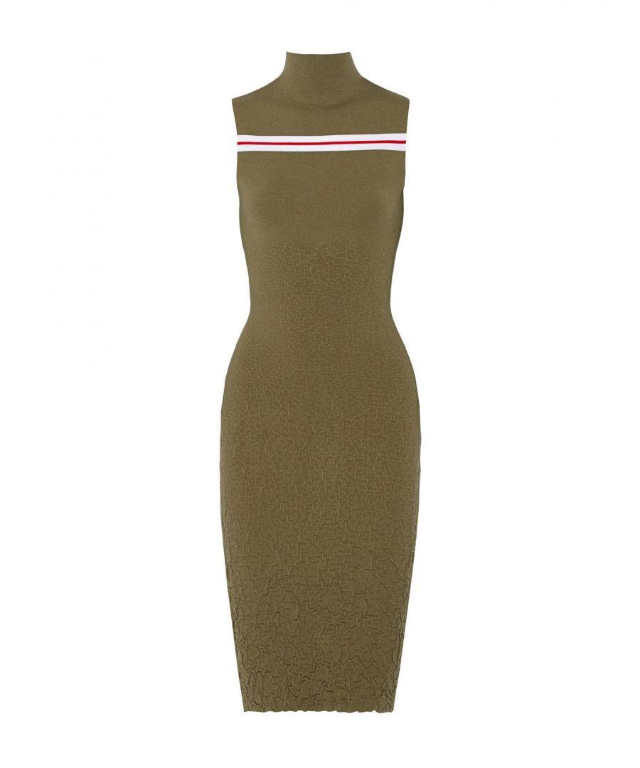 Image for Suno Military Green Midi Dress