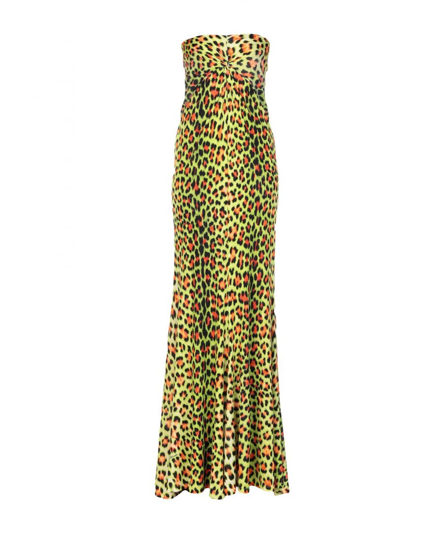 Image for Just Cavalli Green Print Full Length Dress