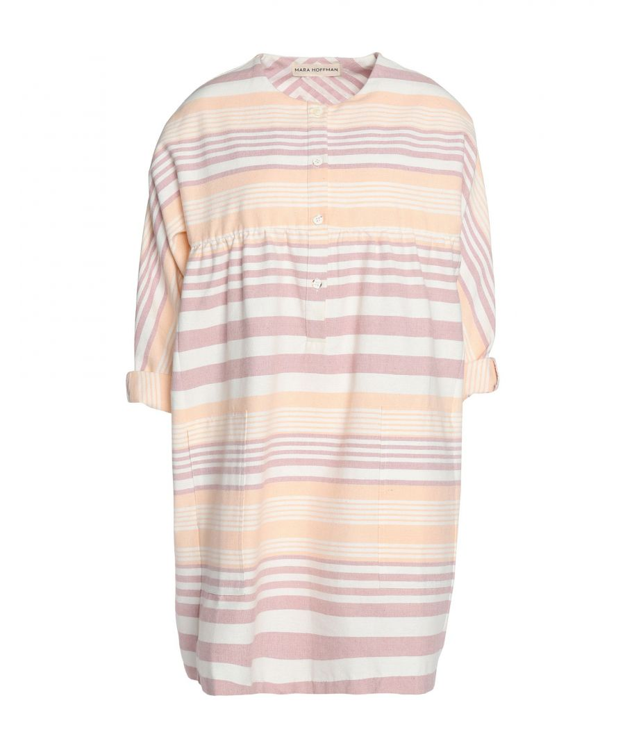 Image for Mara Hoffman Salmon Pink Organic Cotton Short Dress