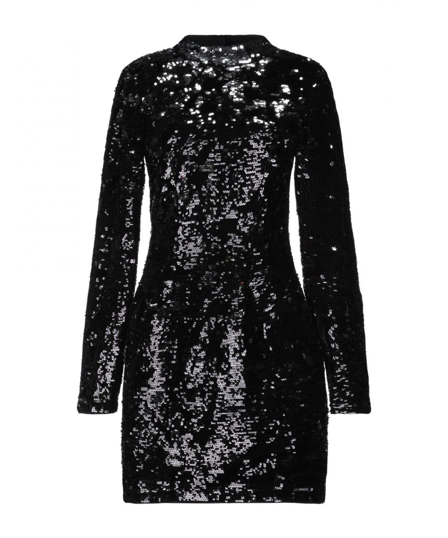 Image for Guess Black Sequin Long Sleeve Dress