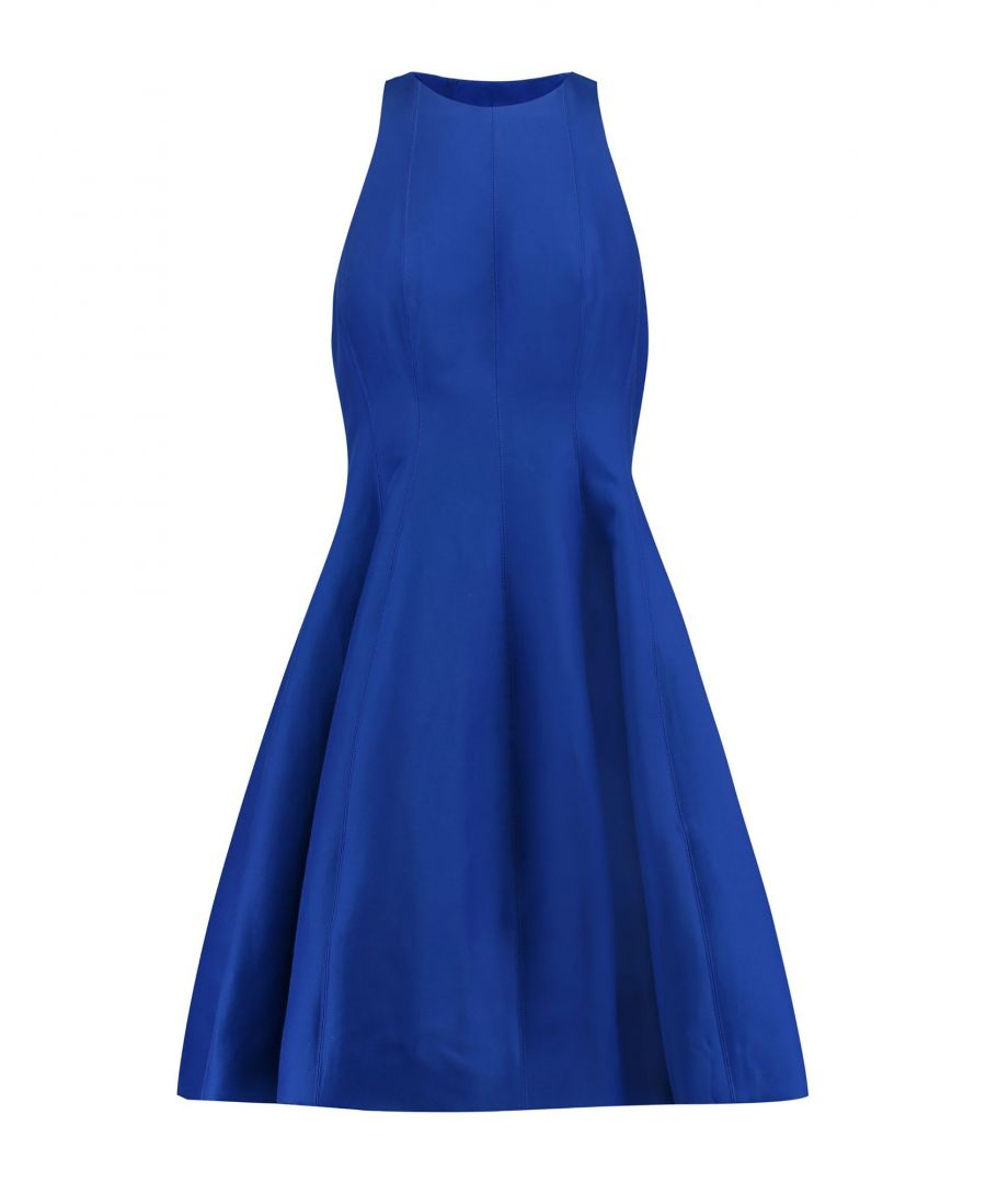 Image for Halston Blue Cotton Flared Style Dress