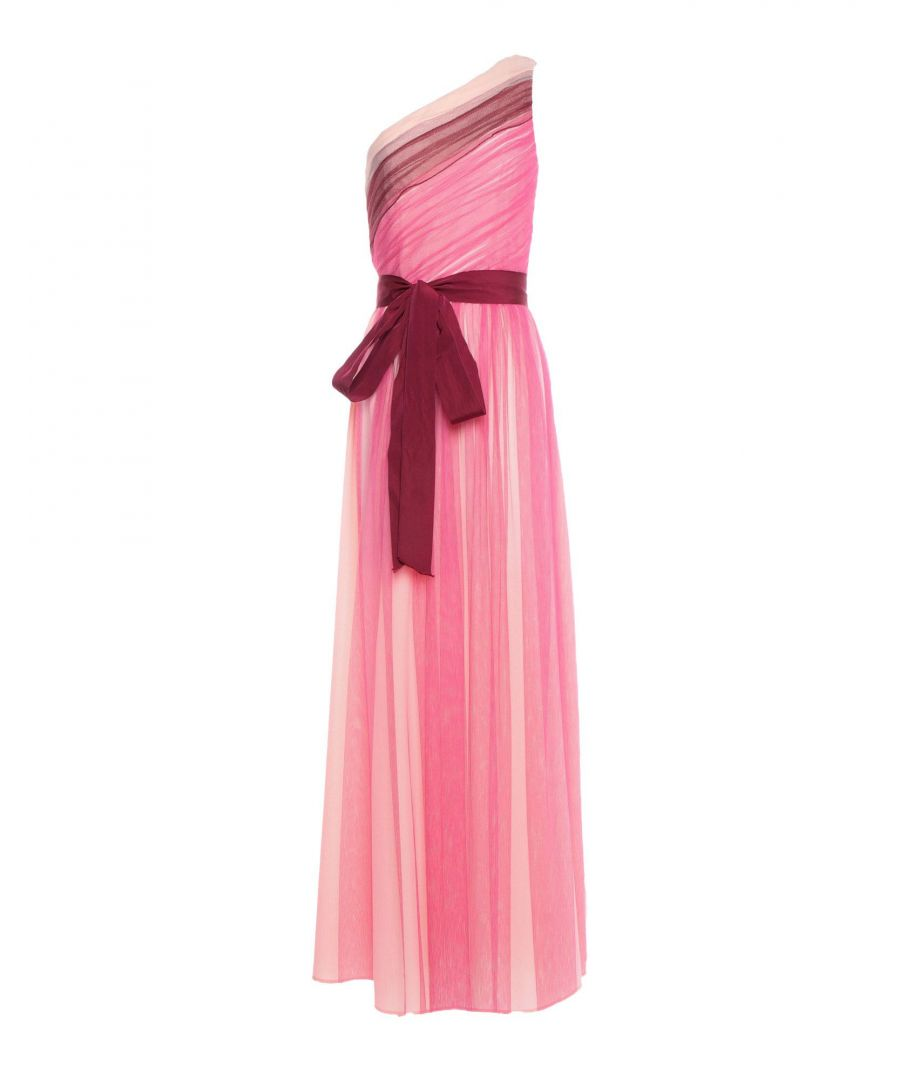 Image for Pinko Pink Tulle Belted Asymmetrical Dress