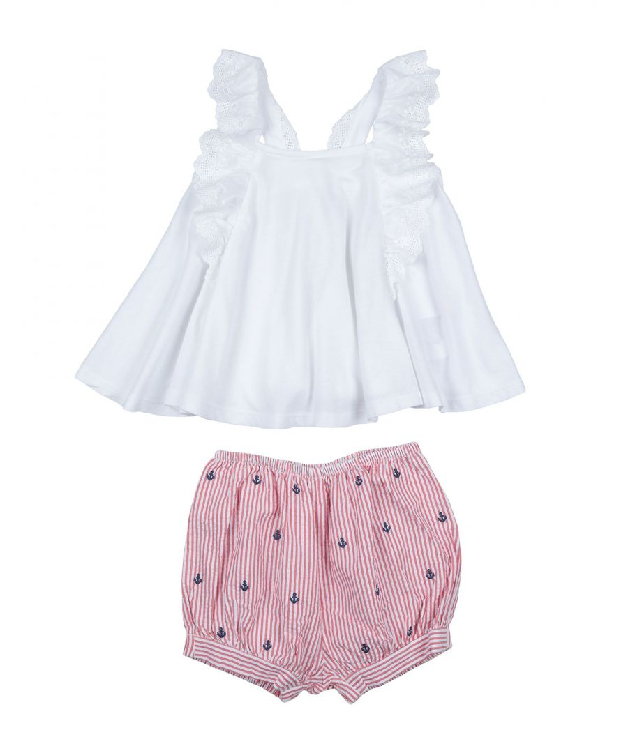 Image for BODYSUITS & SETS Girl Ralph Lauren White Cotton