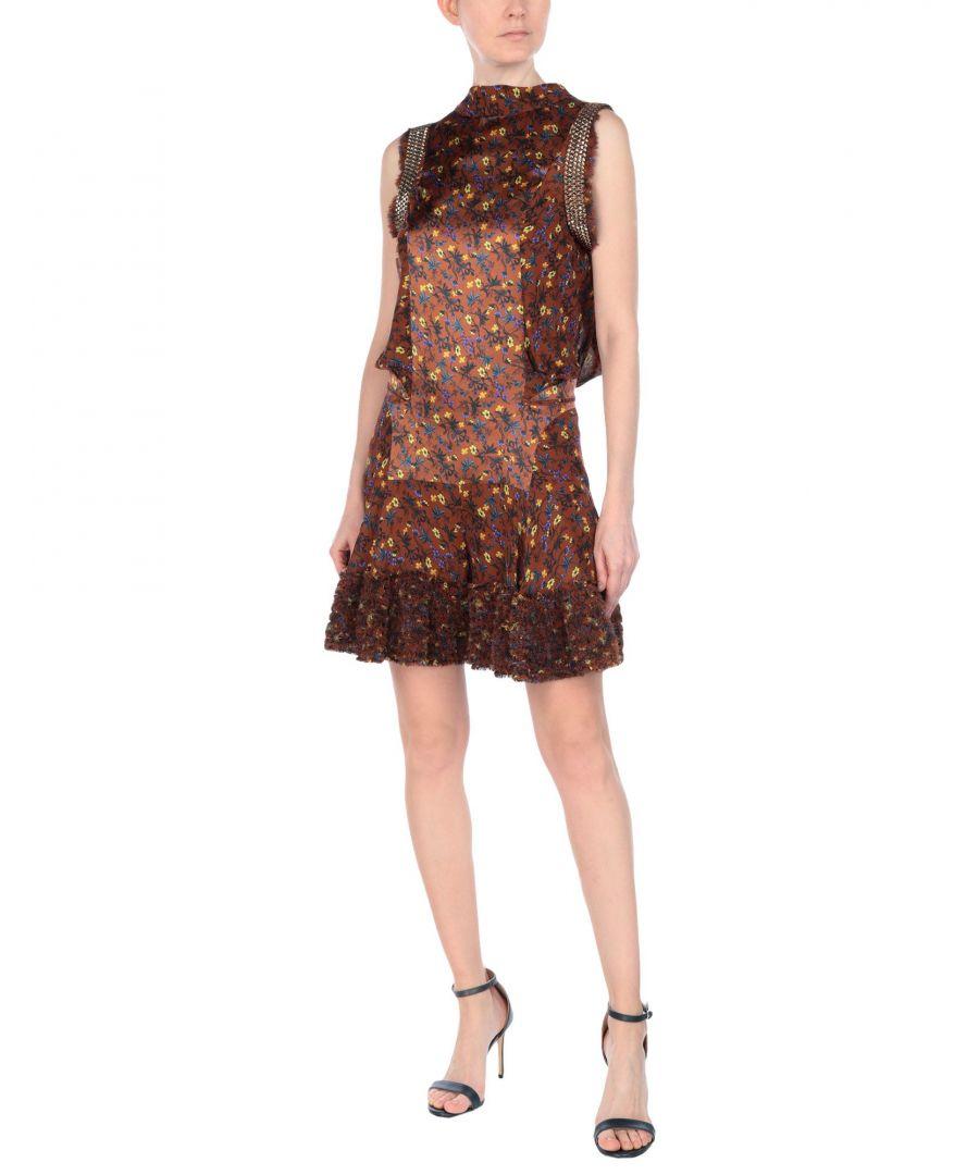 Image for Chloé Brown Floral Design Playsuit