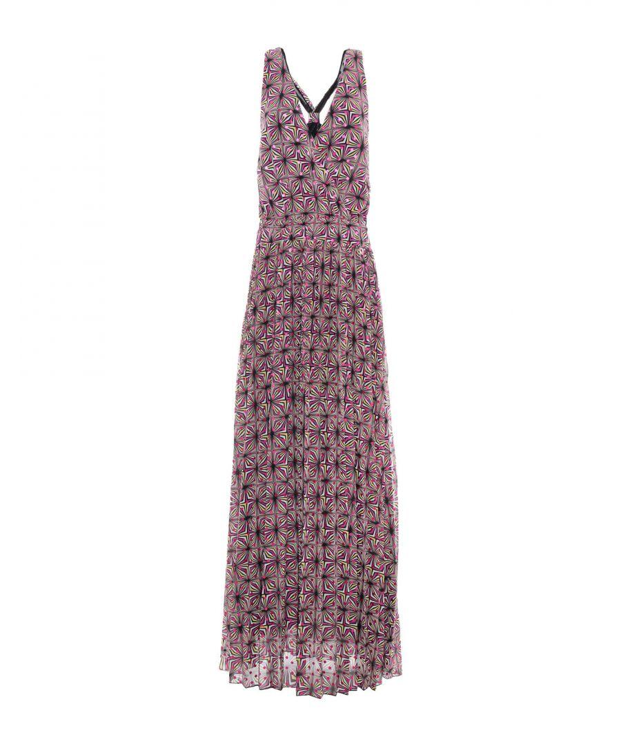 Image for Patrizia Pepe Black Print Full Length Dress