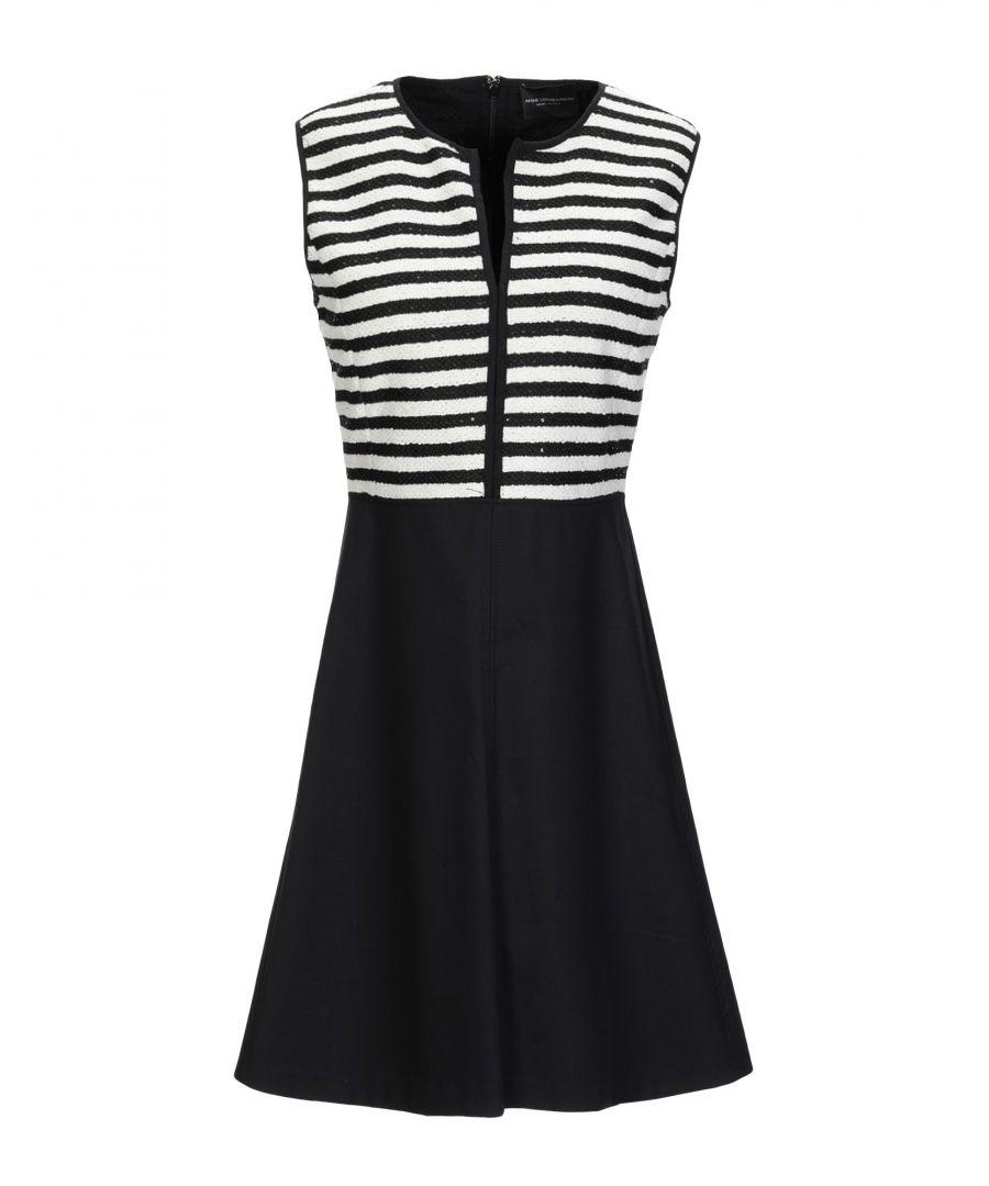 Image for Atos Lombardini Ivory Stripe Short Dress
