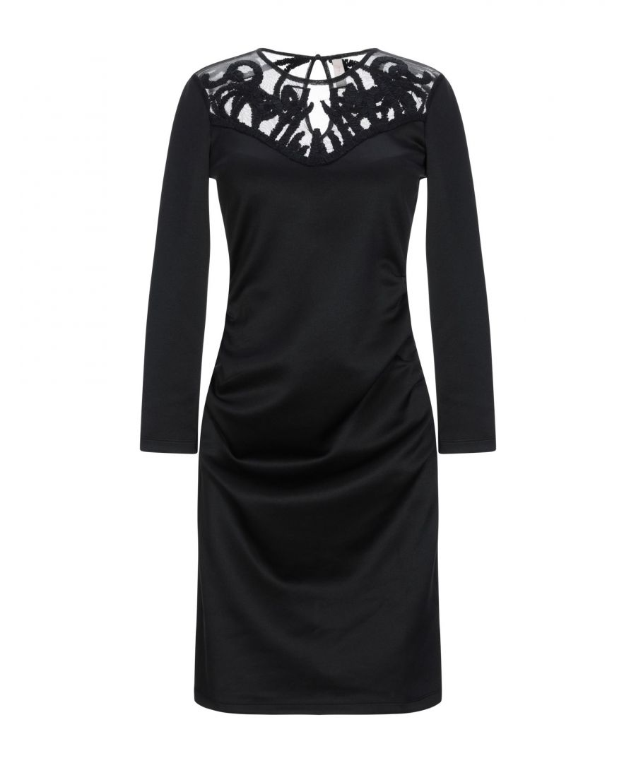 Image for Y.A.S. Black Jersey And Lace Long Sleeve Dress