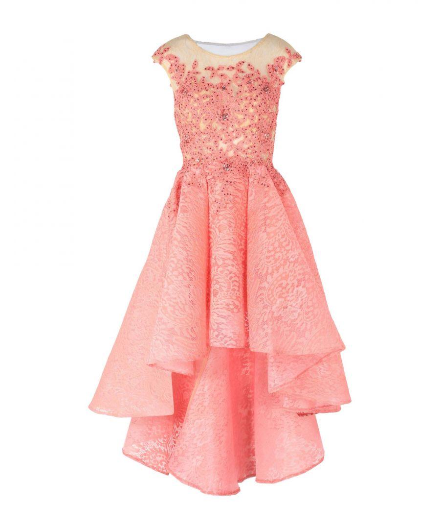 Image for Forever Unique Coral Lace Embellished Dress