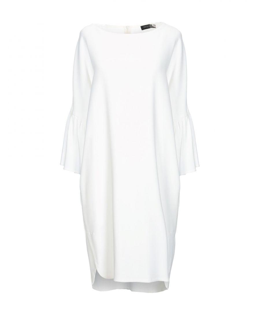 Image for Antonelli White Crepe Long Sleeve Dress