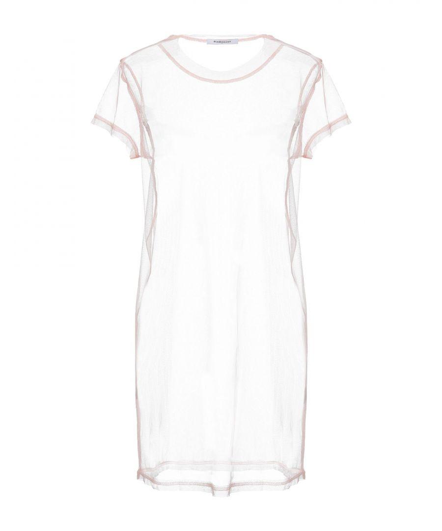 Image for Glamorous Pink Tulle Short Sleeve Dress