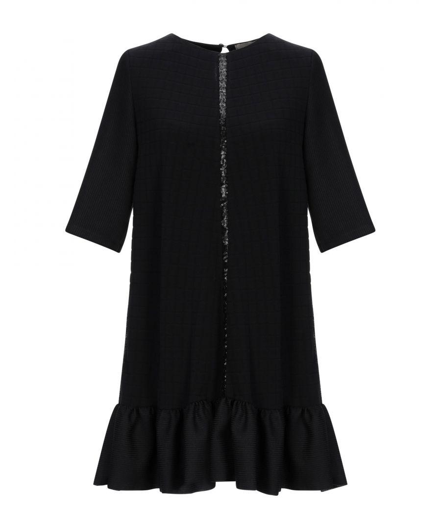 Image for Pinko Black Wool Short Sleeve Dress