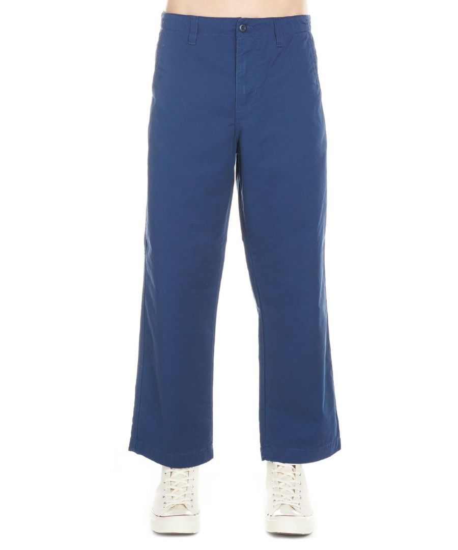 Image for CARHARTT MEN'S I02492400STONEWBLU BLUE COTTON PANTS