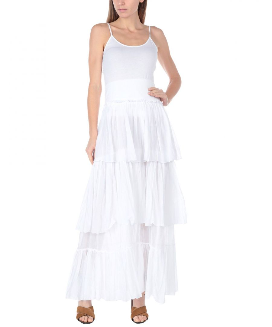 Image for European Culture White Cotton Camisole And Skirt Set