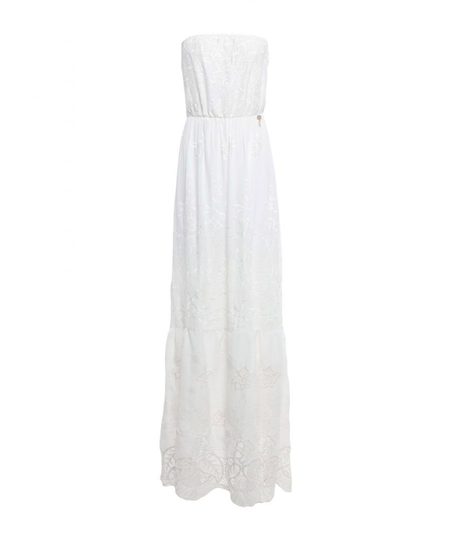 Image for Fracomina White Full Length Dress