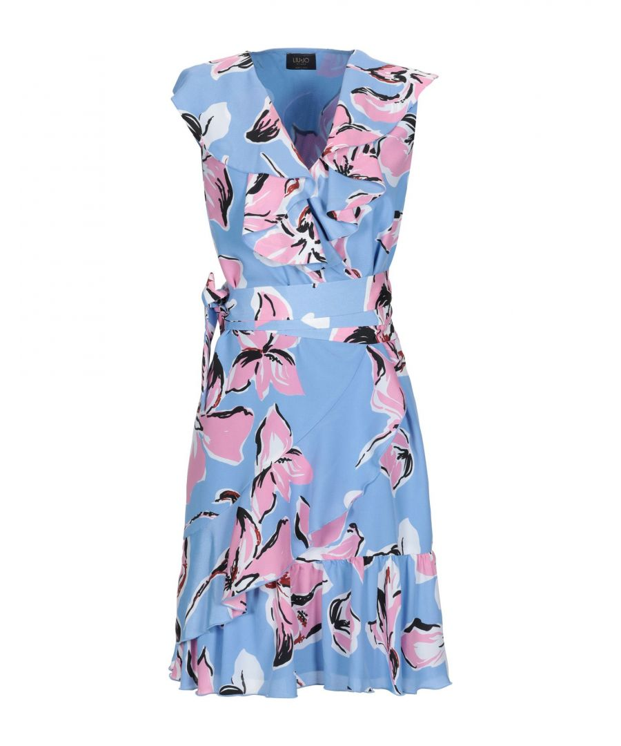 Image for Liu Jo Sky Blue Print Short Dress