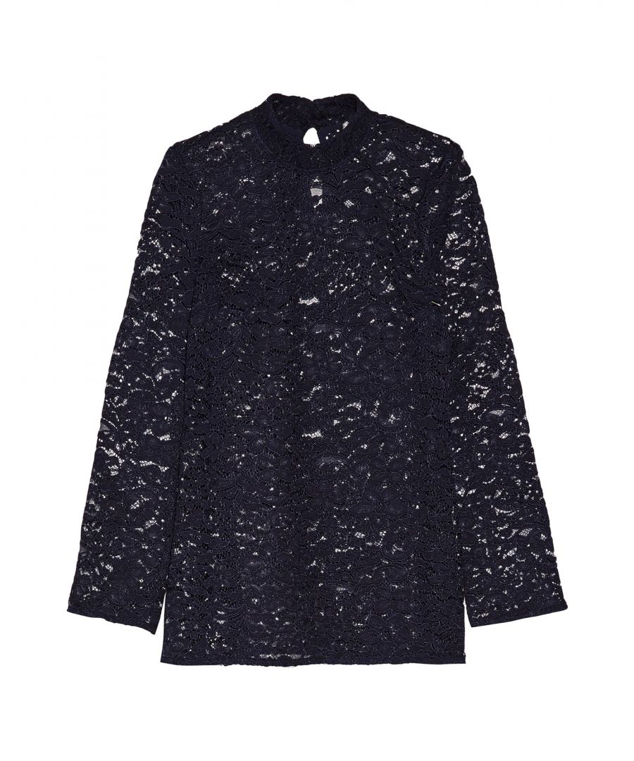Image for Rebecca Vallance Dark Blue Lace Shirt