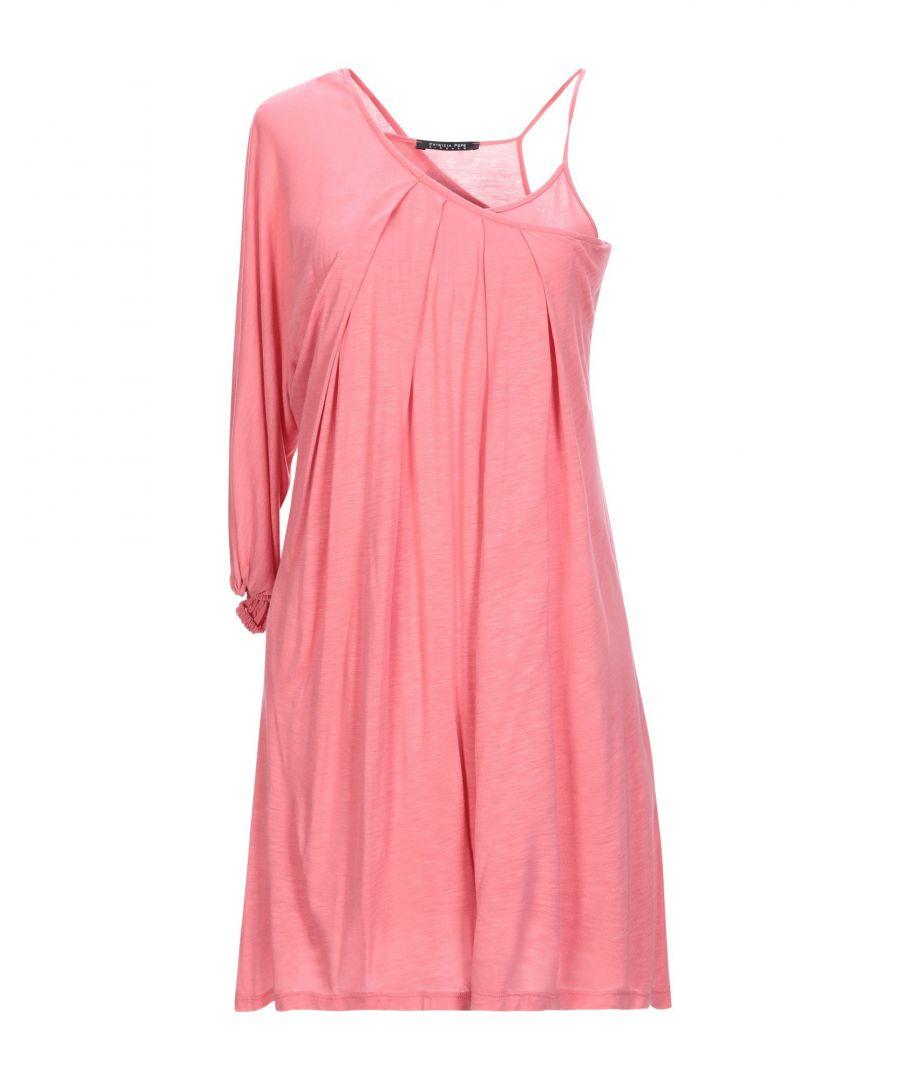Image for Patrizia Pepe Pink Jersey Asymmetrical Dress