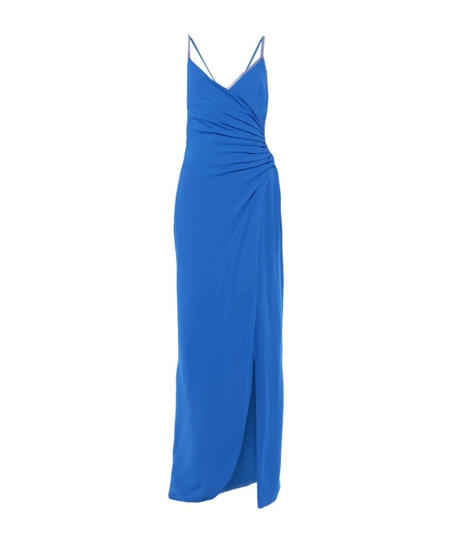 Image for Versace Bright Blue Long Silk Dress