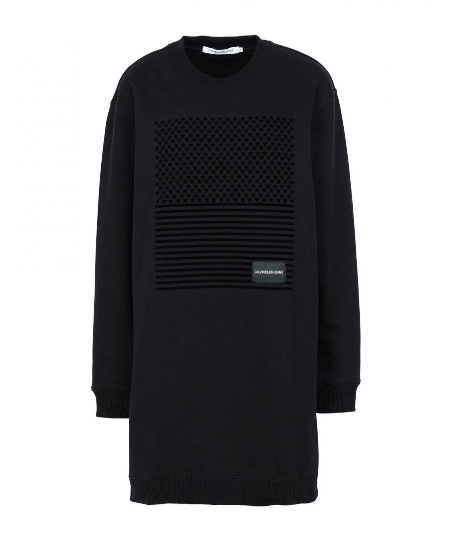 Image for Calvin Klein Jeans Black Cotton Sweatshirt Dress