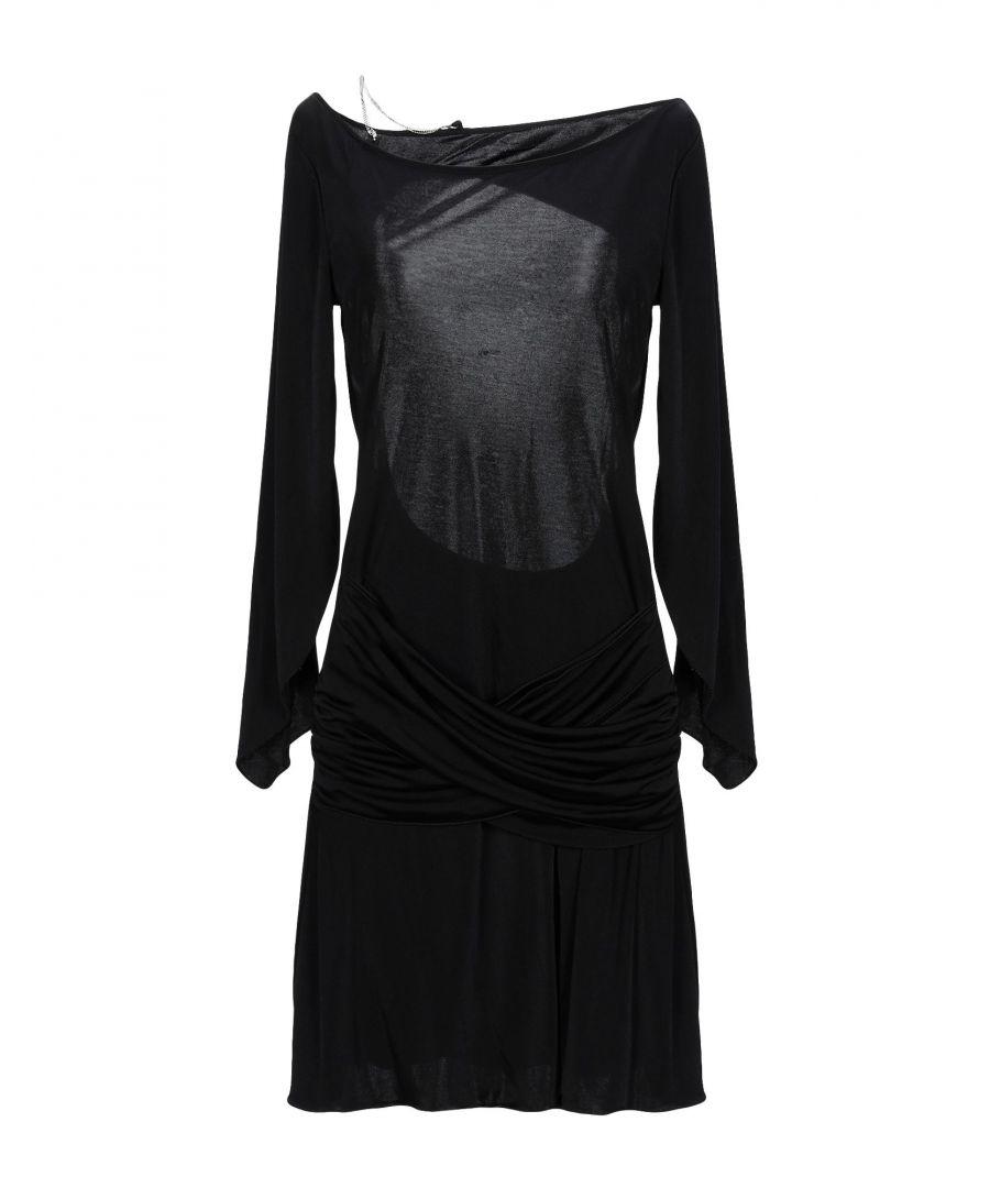 Image for Patrizia Pepe Black Jersey Long Sleeve Dress