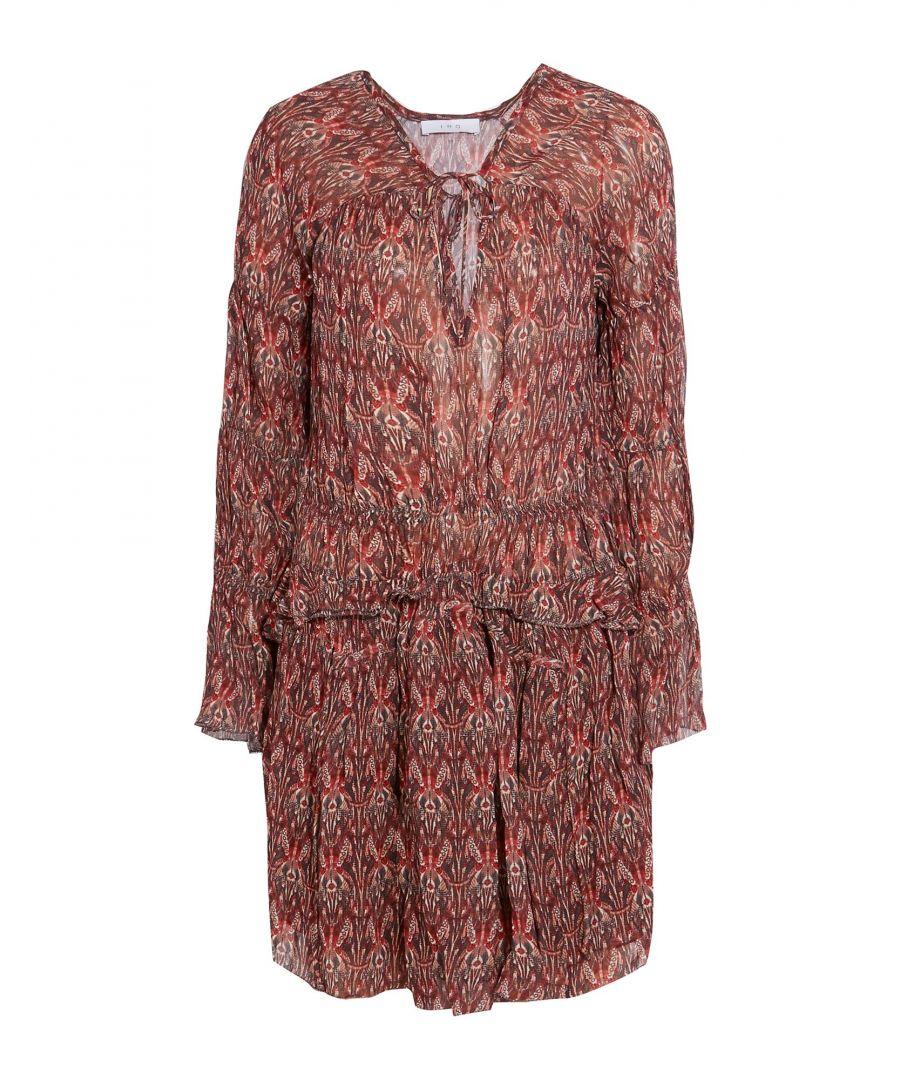Image for DRESSES Iro Maroon Woman Viscose