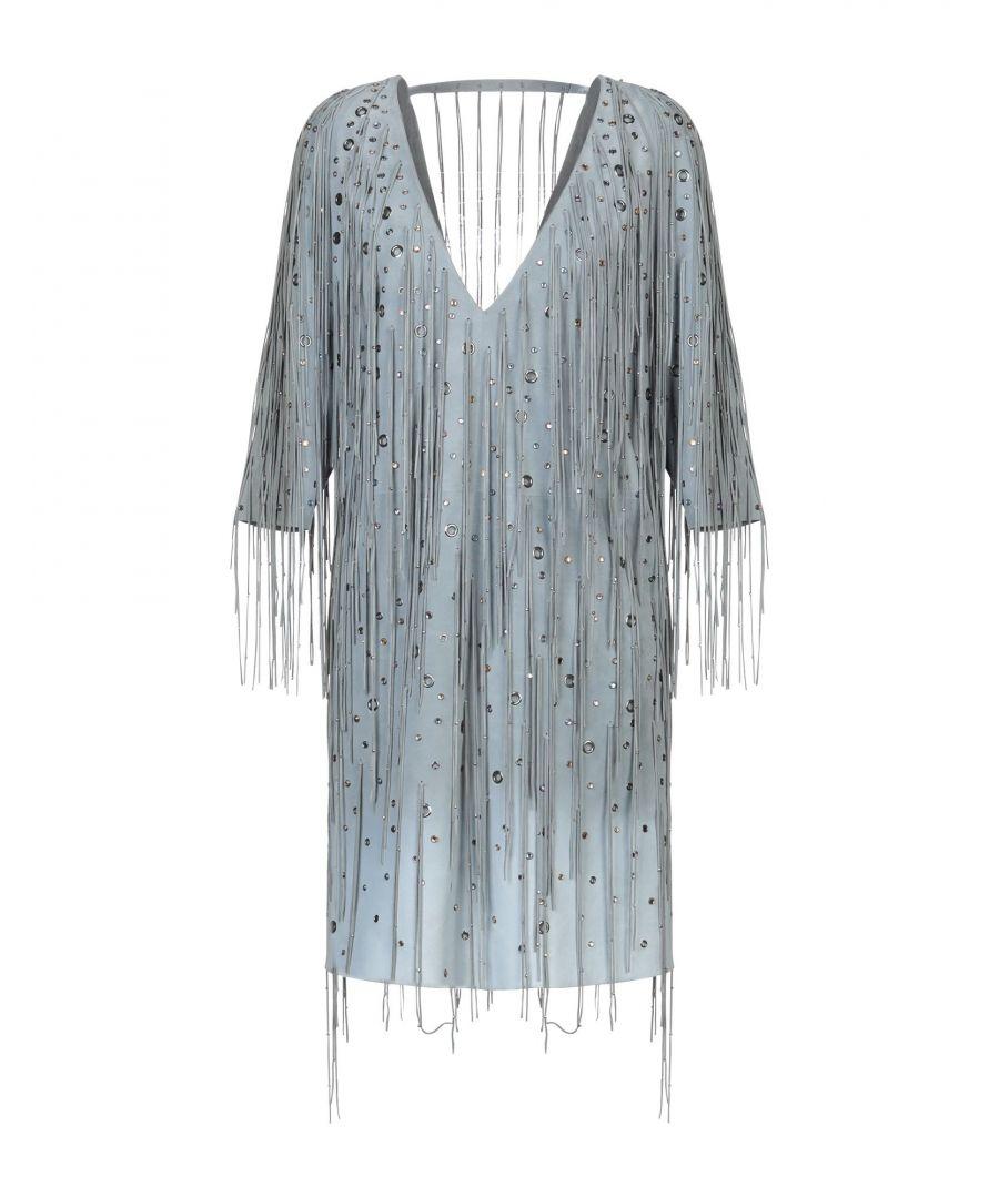 Image for Dress Women's Bottega Veneta Grey Lambskin