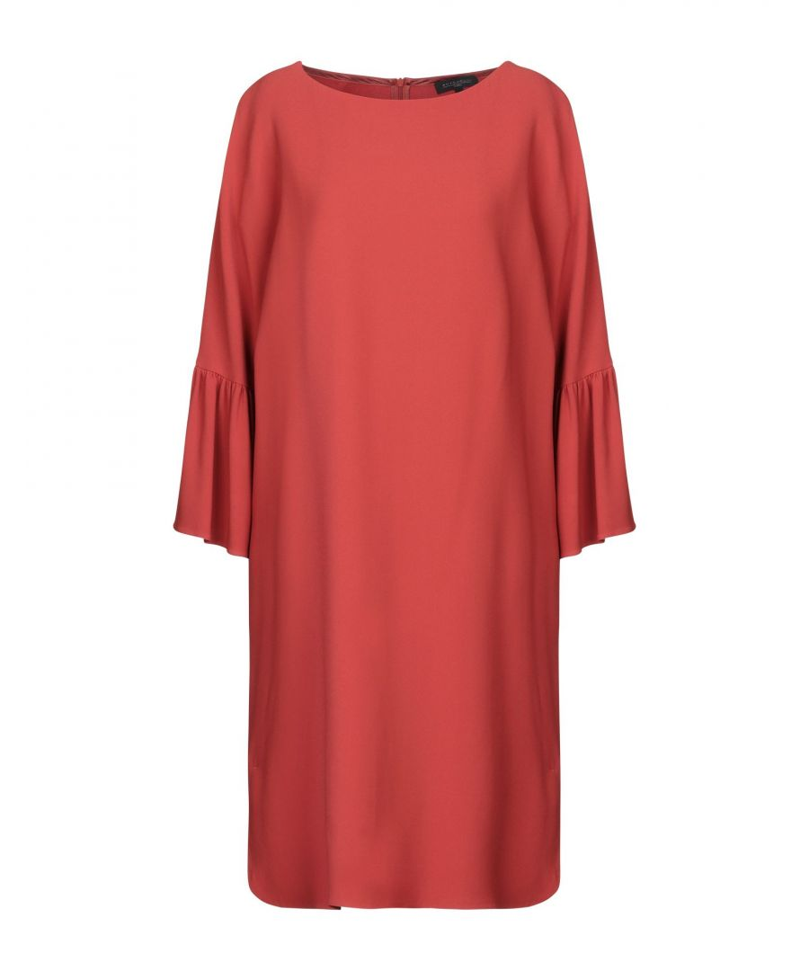 Image for Antonelli Brick Red Three Quarter Length Sleeve Dress