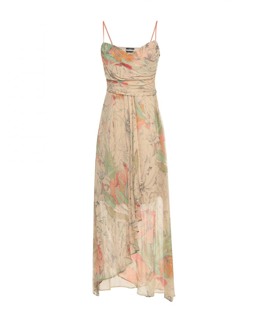 Image for Sweet R.E.M. Beige Floral Print Silk Dress