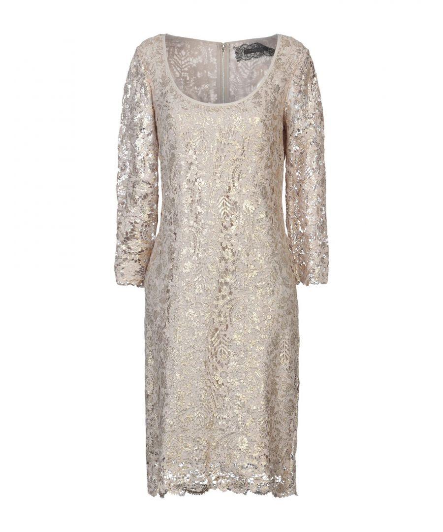 Image for Patrizia Pepe Sera Gold Cotton Lace Dress