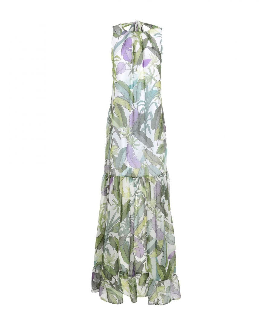Image for Liu Jo Green Print Full Length Dress