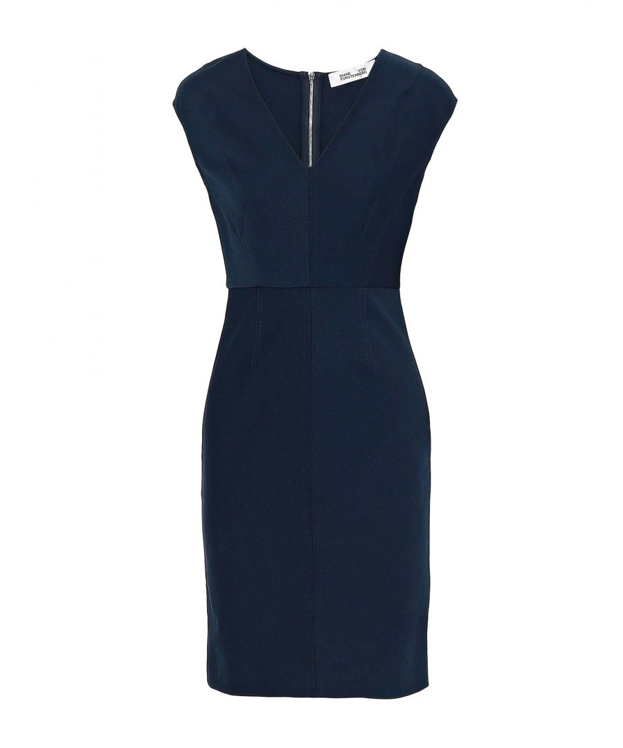 Image for Diane Von Furstenberg Dark Blue Pencil Style Dress