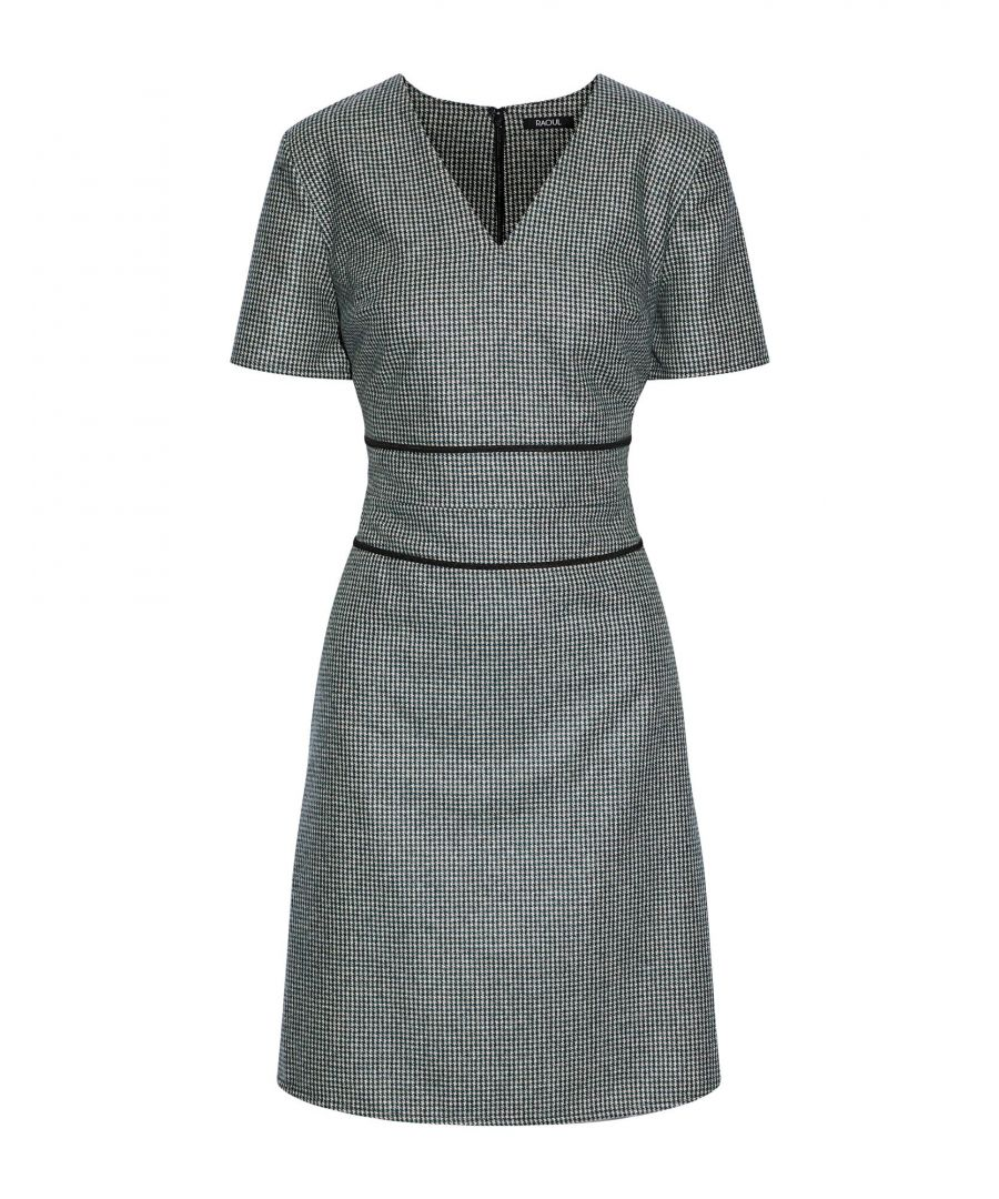 Image for Raoul Green Wool Short Sleeve Dress
