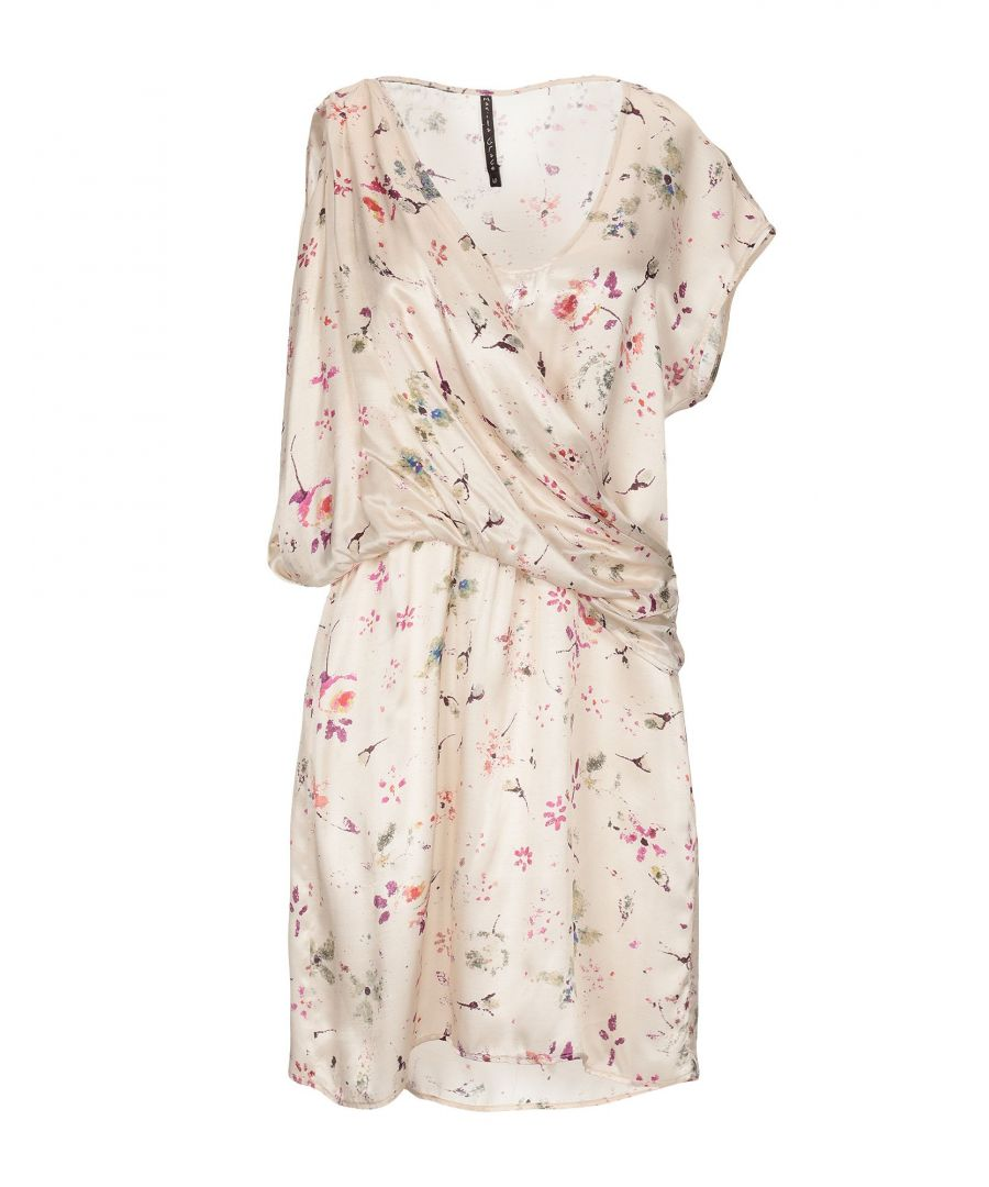 Image for Manila Grace Ivory Print Satin Dress