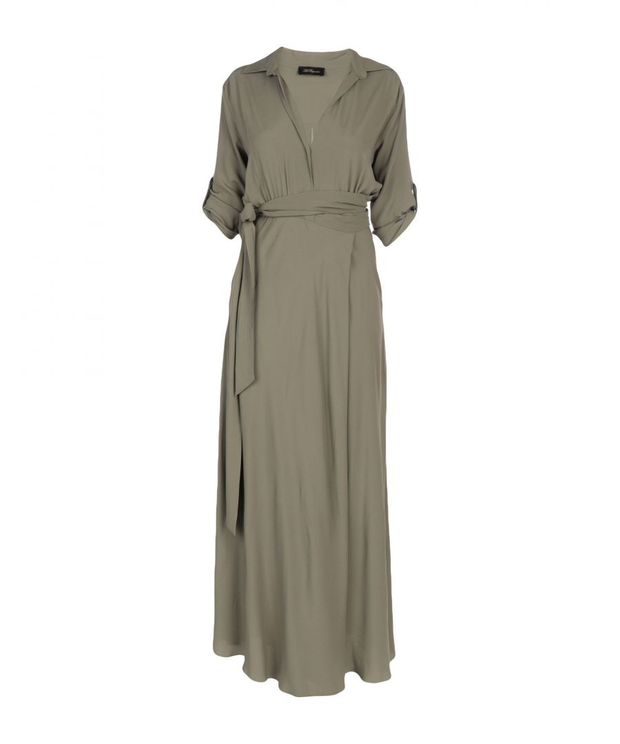 Image for Les Copains Military Green Full Length Dress