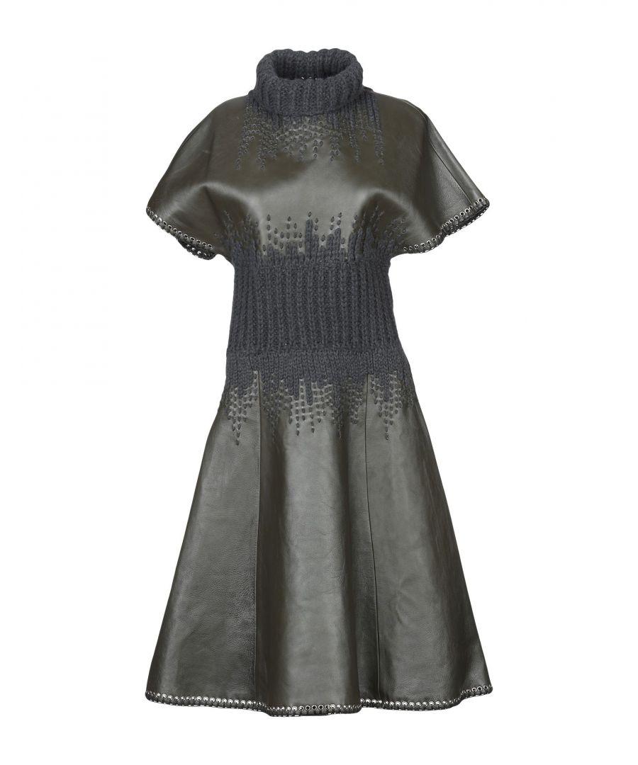 Image for Balenciaga Lead Lambskin Leather Dress