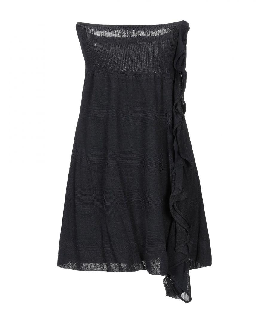 Image for Pinko Black Knit Ruffle Dress