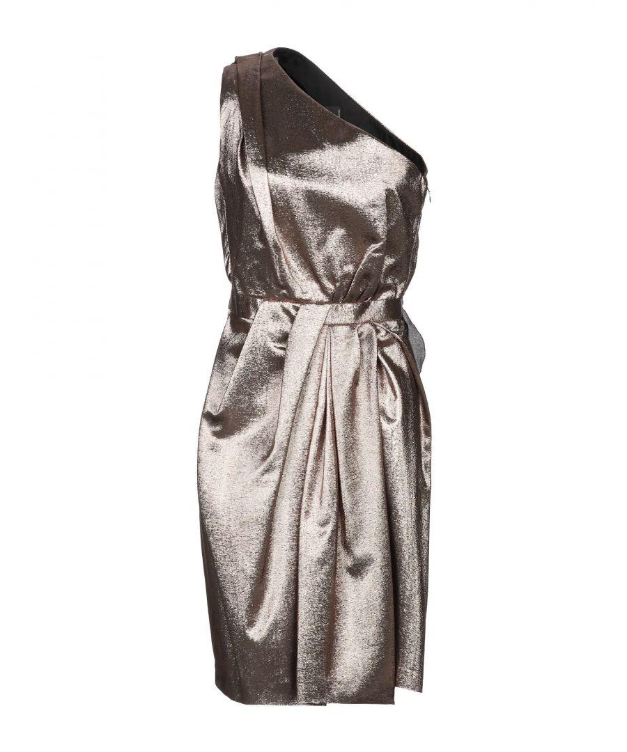 Image for Dsquared2 Platinum Silk Asymmetrical Dress