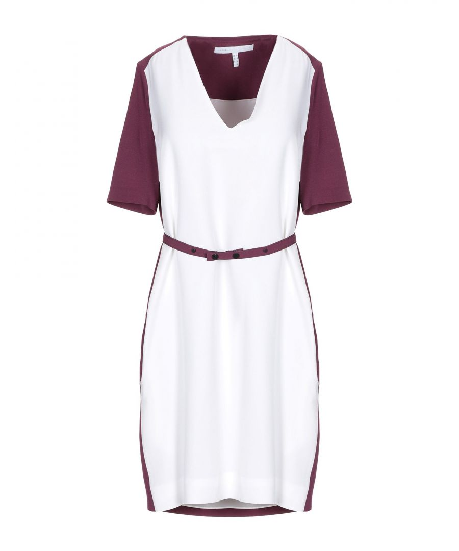 Image for Victoria, Victoria Beckham White Crepe Belted Dress