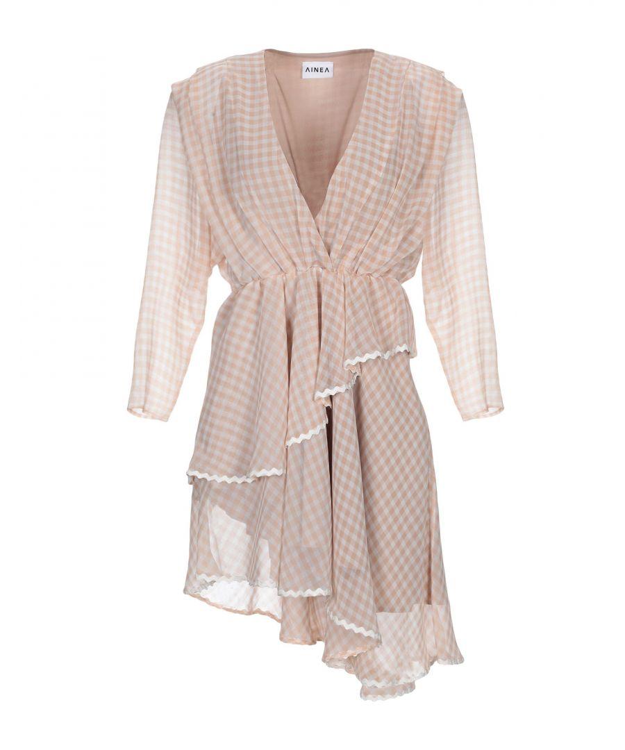 Image for Ainea Light Pink Silk Long Sleeve Dress
