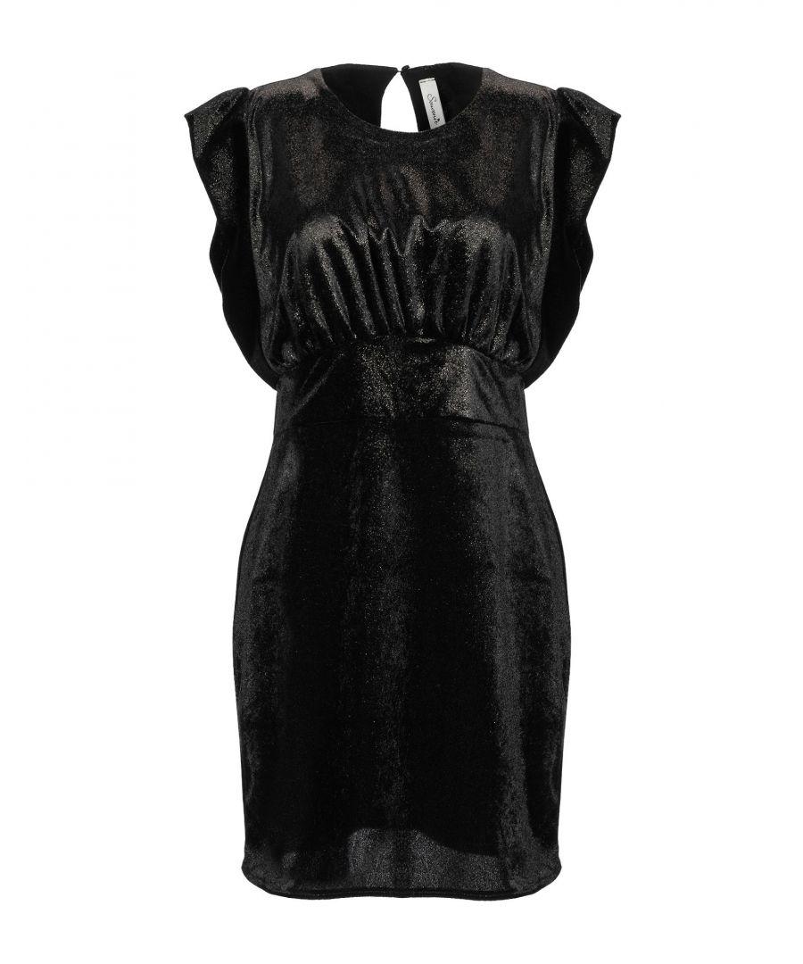 Image for Souvenir Black Velvet Short Dress