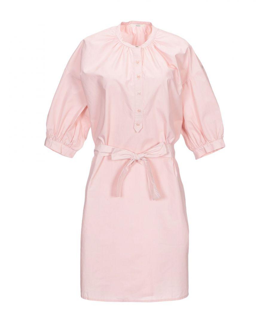 Image for Sessun Women's Short Dress Light Pink Cotton