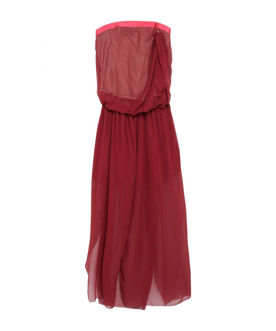 Image for Marc Jacobs Maroon Silk Strapless Dress