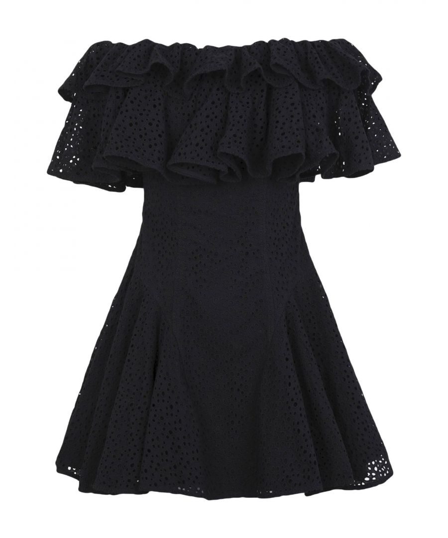 Image for House Of Holland Black Lace Ruffle Dress